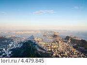 Купить «Вид на Рио-де-Жанейро с горы Корковадо, Бразилия», фото № 4479845, снято 20 декабря 2012 г. (c) vale_t / Фотобанк Лори