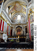 Внутреннее убранство  Кафедрального Собора св. Николая в Любляне, Словения (2010 год). Стоковое фото, фотограф Ekaterina Shustrova / Фотобанк Лори