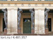 Купить «Атланты, Эрмитаж», эксклюзивное фото № 4481957, снято 2 апреля 2013 г. (c) Валентина Качалова / Фотобанк Лори