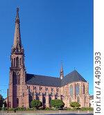 Купить «Церковь святого Бернарда в Карлсруэ, Германия», фото № 4499393, снято 16 сентября 2012 г. (c) Михаил Марковский / Фотобанк Лори