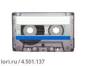 Аудиокассета на белом фоне. Стоковое фото, фотограф Пётр Квашин / Фотобанк Лори