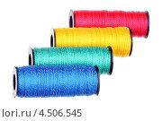 Купить «Четыре катушки с нитками», фото № 4506545, снято 7 апреля 2013 г. (c) Игорь Веснинов / Фотобанк Лори