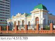 Купить «Город Омск, Центр изучения истории гражданской войны», фото № 4513789, снято 6 августа 2012 г. (c) Виктор Топорков / Фотобанк Лори
