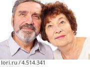 Купить «Пожилая пара на белом фоне, изолированно», фото № 4514341, снято 17 ноября 2011 г. (c) Losevsky Pavel / Фотобанк Лори
