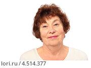 Купить «Портрет пожилой женщины на белом фоне», фото № 4514377, снято 17 ноября 2011 г. (c) Losevsky Pavel / Фотобанк Лори