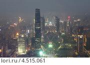 Купить «Гуанчжоу, Международный финансовый центр в Китае, вид сверху», фото № 4515061, снято 22 ноября 2011 г. (c) Losevsky Pavel / Фотобанк Лори