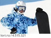 Купить «Сноубордист на склоне», фото № 4515321, снято 16 февраля 2012 г. (c) Losevsky Pavel / Фотобанк Лори