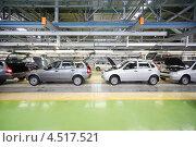Купить «Автомобили Лада Калина в цеху автозавода ВАЗ», фото № 4517521, снято 30 сентября 2011 г. (c) Losevsky Pavel / Фотобанк Лори