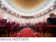 Купить «Зал театра с красными креслами», фото № 4517673, снято 26 января 2012 г. (c) Losevsky Pavel / Фотобанк Лори
