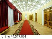 Купить «Пустой холл с красной дорожкой во Дворце на Яузе», фото № 4517861, снято 27 января 2012 г. (c) Losevsky Pavel / Фотобанк Лори