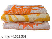 Цветные полотенца на белом фоне. Стоковое фото, фотограф Людмила Маркина / Фотобанк Лори