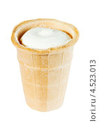 Купить «Мороженое в вафельном стаканчике», фото № 4523013, снято 15 ноября 2011 г. (c) Losevsky Pavel / Фотобанк Лори