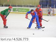Купить «Открытая ледовая тренировка юниорской, до 18 лет, сборной России по хоккею», фото № 4526773, снято 12 апреля 2013 г. (c) Stockphoto / Фотобанк Лори