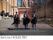 Конный караул в Московском Кремле (2013 год). Редакционное фото, фотограф Ekaterina Shustrova / Фотобанк Лори