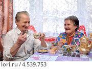 Купить «Пенсионеры пьют чай», фото № 4539753, снято 14 апреля 2013 г. (c) Мастепанов Павел / Фотобанк Лори