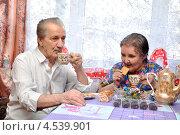 Купить «Пенсионеры пьют чай», фото № 4539901, снято 14 апреля 2013 г. (c) Мастепанов Павел / Фотобанк Лори