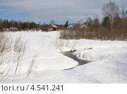 Купить «Весенний сельский пейзаж», эксклюзивное фото № 4541241, снято 9 апреля 2013 г. (c) Елена Коромыслова / Фотобанк Лори