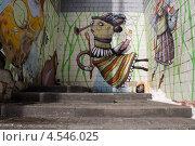 Граффити на кирпичной стене (2013 год). Редакционное фото, фотограф Елена Григорьева / Фотобанк Лори
