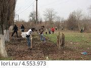 Купить «Субботник», эксклюзивное фото № 4553973, снято 13 апреля 2013 г. (c) Ivan I. Karpovich / Фотобанк Лори