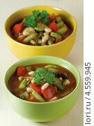 Купить «Запечённый постный суп», эксклюзивное фото № 4559945, снято 24 апреля 2013 г. (c) Александр Курлович / Фотобанк Лори