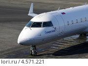Самолет Canadair CL-600-2B19 Regional Jet CRJ-200LR (2013 год). Редакционное фото, фотограф Олег Пластинин / Фотобанк Лори