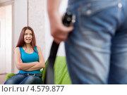 Купить «Молодожены ссорятся дома», фото № 4579877, снято 21 октября 2012 г. (c) Яков Филимонов / Фотобанк Лори