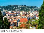 Купить «Панорамный вид сверху города Канны, Франция», фото № 4594673, снято 1 мая 2013 г. (c) Alexander Tihonovs / Фотобанк Лори