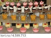 Красиво оформленный сладкий десерт. Стоковое фото, фотограф Хайруллина Ирина / Фотобанк Лори
