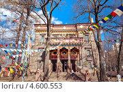 Купить «Молитвенные флажки. Санкт-Петербургский буддийский храм «Дацан Гунзэчойнэй»», эксклюзивное фото № 4600553, снято 2 мая 2013 г. (c) Ольга Визави / Фотобанк Лори