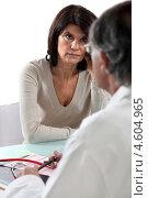 Купить «Женщина на приеме у врача», фото № 4604965, снято 7 марта 2011 г. (c) Phovoir Images / Фотобанк Лори