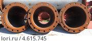 Купить «Плоские фланцы для соединения трубопроводов», эксклюзивное фото № 4615745, снято 12 мая 2013 г. (c) Валерий Акулич / Фотобанк Лори