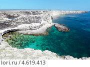 Купить «Морской пейзаж полуострова Тарханкут, Крым», фото № 4619413, снято 7 мая 2013 г. (c) Некрасов Андрей / Фотобанк Лори