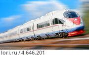 Купить «Скоростной поезд», фото № 4646201, снято 14 августа 2010 г. (c) Екатерина Тарасенкова / Фотобанк Лори