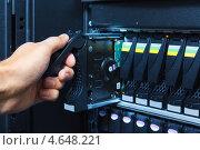 Купить «Системы хранения данных в центре обработки данных», фото № 4648221, снято 24 марта 2019 г. (c) Mikhail Starodubov / Фотобанк Лори