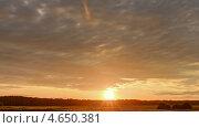 Купить «Закат, True HDR. Натуральные цвета и контраст. Таймлапс», видеоролик № 4650381, снято 29 июля 2012 г. (c) Никита Майков / Фотобанк Лори