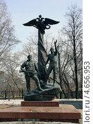 Купить «Памятник воинам-десантникам. Москва», эксклюзивное фото № 4656953, снято 10 апреля 2013 г. (c) Алексей Гусев / Фотобанк Лори