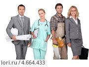 Купить «Четыре представителя разных профессий», фото № 4664433, снято 17 июня 2010 г. (c) Phovoir Images / Фотобанк Лори