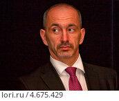 Мартин Куба - министр промышленности и торговли Чешской республики (2013 год). Редакционное фото, фотограф Татьяна Глухова / Фотобанк Лори