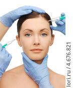 Купить «Медсестра делает укол в лицо девушки», фото № 4676821, снято 6 января 2013 г. (c) Syda Productions / Фотобанк Лори