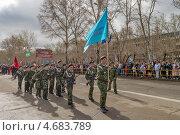 Отряд патриотического движения Зарница, эксклюзивное фото № 4683789, снято 9 мая 2013 г. (c) Геннадий Соловьев / Фотобанк Лори