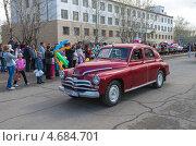 """Автомобиль """"Победа"""", эксклюзивное фото № 4684701, снято 9 мая 2013 г. (c) Геннадий Соловьев / Фотобанк Лори"""
