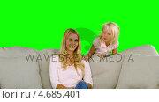 Купить «Little blonde girl surprising her mother in slow motion», видеоролик № 4685401, снято 17 июля 2019 г. (c) Wavebreak Media / Фотобанк Лори
