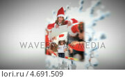 Купить «Christmas animation with families», видеоролик № 4691509, снято 23 августа 2019 г. (c) Wavebreak Media / Фотобанк Лори