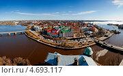 Панорама Выборга весной (2013 год). Стоковое фото, фотограф Сергей Павлов / Фотобанк Лори