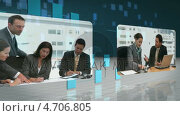 Купить «Business videos flowing over network», видеоролик № 4706805, снято 28 января 2020 г. (c) Wavebreak Media / Фотобанк Лори