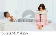 Купить «Mature couple after  an argument», видеоролик № 4714297, снято 26 марта 2019 г. (c) Wavebreak Media / Фотобанк Лори