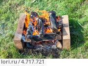 Костер для приготовления шашлыка. Стоковое фото, фотограф FotograFF / Фотобанк Лори