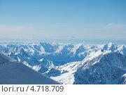 Купить «Вид на Кавказские горы с Эльбруса», фото № 4718709, снято 9 мая 2013 г. (c) Дмитрий Шульгин / Фотобанк Лори