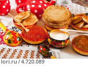 Купить «Русские блины», фото № 4720089, снято 6 марта 2011 г. (c) Яков Филимонов / Фотобанк Лори
