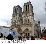 Купить «Собор Нотр-Дам де Пари, Париж, Франция», фото № 4720777, снято 9 апреля 2013 г. (c) Елена Соломонова / Фотобанк Лори